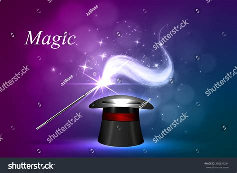 Magic Glowing vector background magic glow concept magic stock vector 368339384
