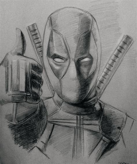 F Drawing Pencil by Pencil Sketch Of Deadpool Drawing Deadpool Marvel