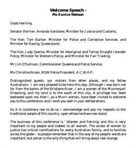welcome speech sle welcome speech exle 7 free documents