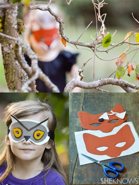 woodland animal masks template diy felt animal masks