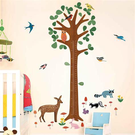 Wandsticker Kinderzimmer by Wandsticker Messlatte Wachstumstabelle Baum Kinderzimmer