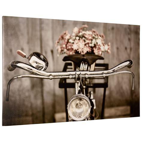 wandbild altrosa wandbild keilrahmen kunstdruck bild 60x90 cm fahrrad sepia