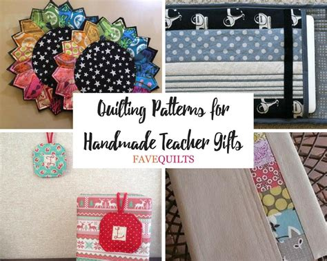 Handmade Gifts For Quilters - 20 quilting patterns for handmade gifts