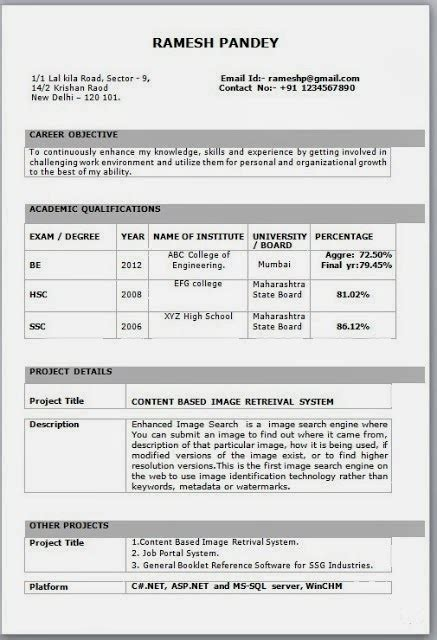 Mba Hr Fresher In Pune by Fantastic New Resume Format For Fresher Sketch Resume