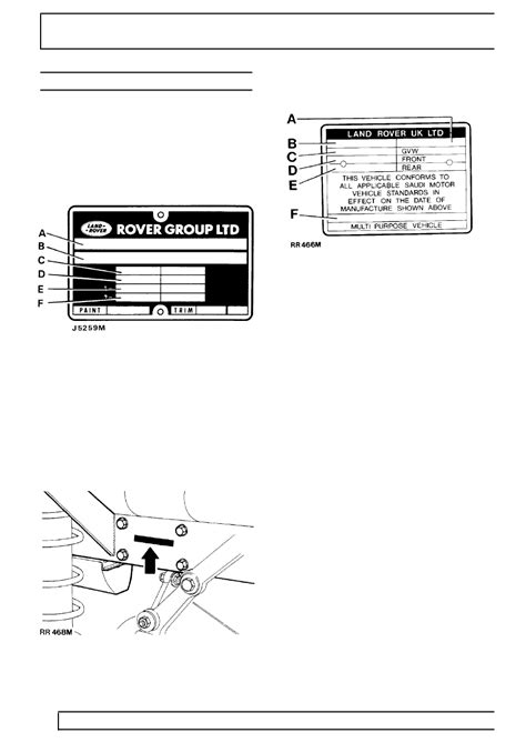 Land Rover Workshop Manuals > Range Rover Classic > 01