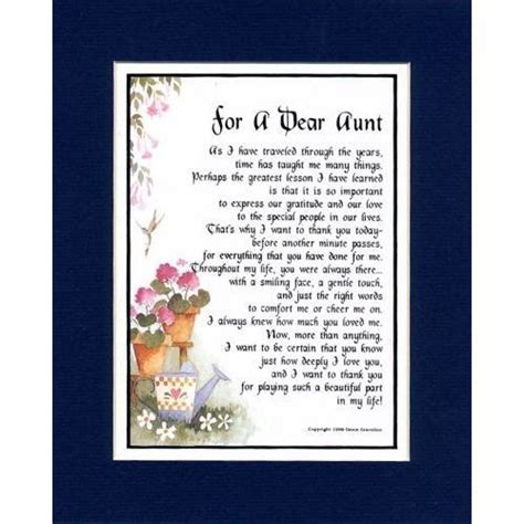 Quotes For Aunts Birthday Poems For Aunts From Nieces Poems About Aunts From