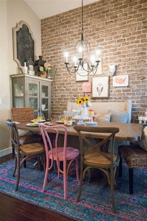 design  inspiration dining rooms  brick walls