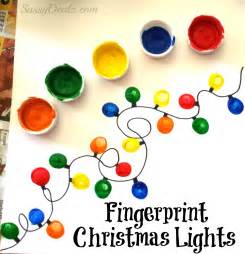 fingerprint christmas light craft for kids diy christmas