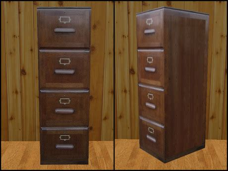Second Life Marketplace   RE Old Wood File Cabinet  One