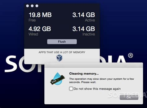 clear ram without restarting flush memory mac