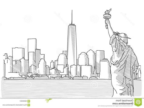 sketchbook new york top 10 free sketch new york city skyline statue
