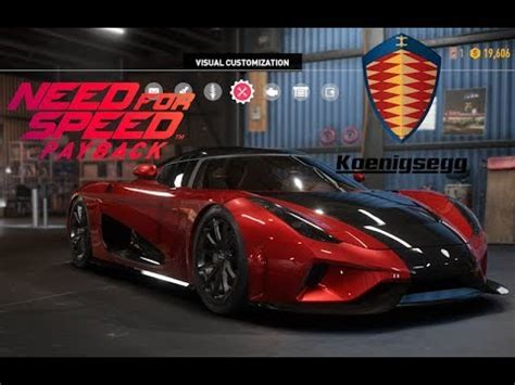 koenigsegg car from need for speed need for speed payback koenigsegg regera vehicle