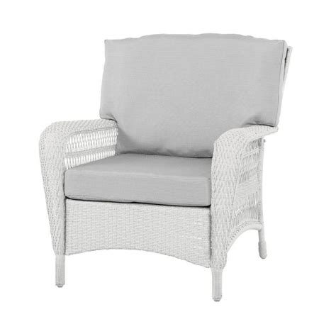 martha stewart living charlottetown white all weather wicker patio lounge chair with custom