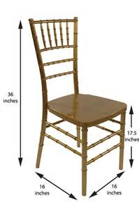 how much storage space do i need for 200 chiavari chairs