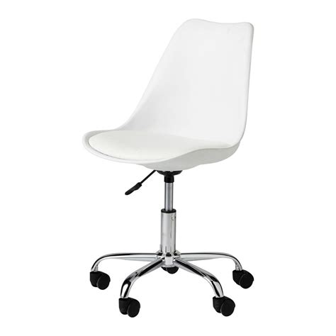 white desk chairs white desk chair bristol maisons du monde