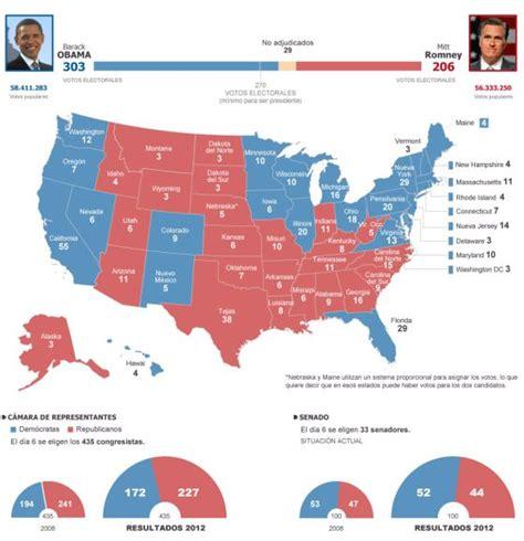 elecciones usa 2012 mapa resultados elecciones de ee uu internacional el pa 205 s