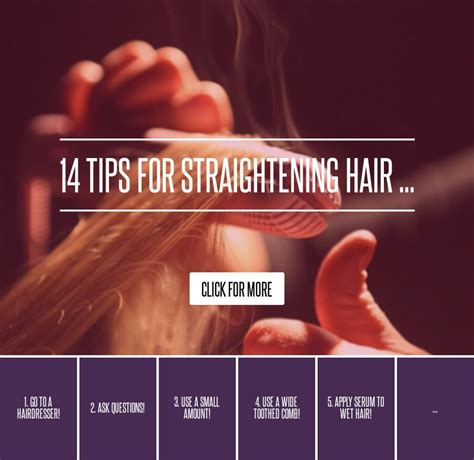 14 Tips For Straightening Hair by 14 Tips For Straightening Hair