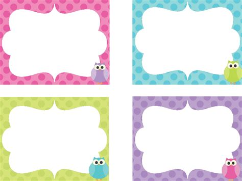 printable owl name tags girly girl training newhairstylesformen2014 com