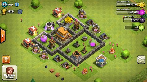 layout coc town hall level 4 base layouts ice empire
