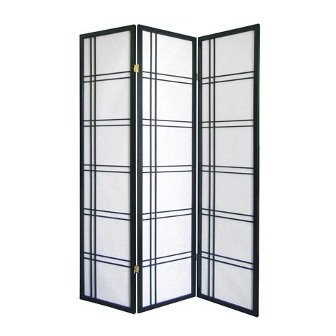 lowes room dividers shop ore international 3 panel black folding indoor privacy screen at lowes
