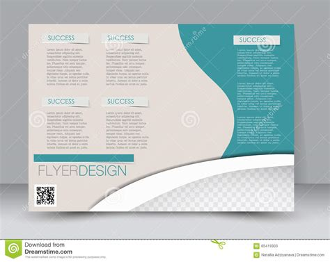landscape poster template flyer template business brochure editable a4 poster for