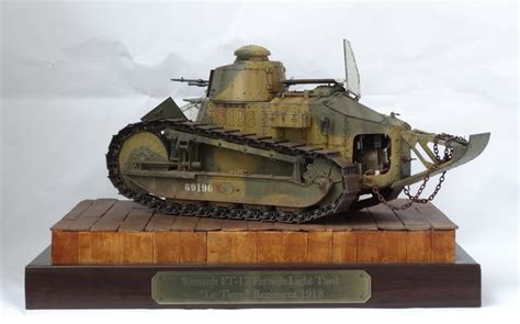 french renault tank renault ft 17 1 16 by mitko nikitov 183 putty paint