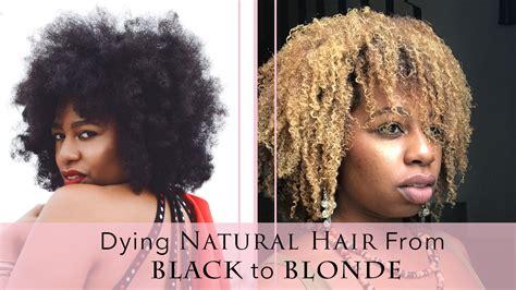 how to die africanamerican hair blonde natural hair tutorial how to dye natural hair blonde