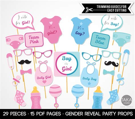 free printable gender reveal photo booth props gender reveal photo booth props gender reveal gender reveal