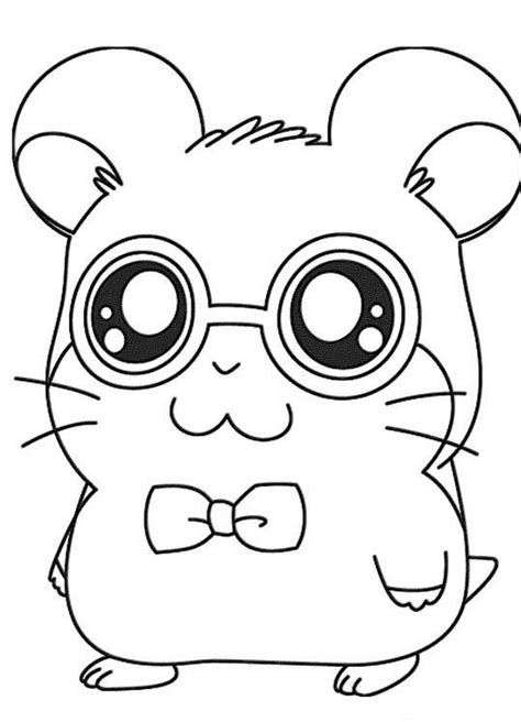 Coloring Page Hamster by Hamster Coloring Pages Coloring Pages