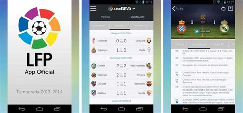 football application mobile use the la liga app for the fans of football
