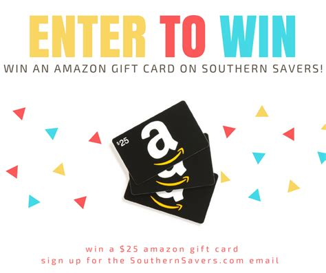 Where Can I Buy 10 Amazon Gift Cards - amazon gift card giveaway 10 winners southern savers
