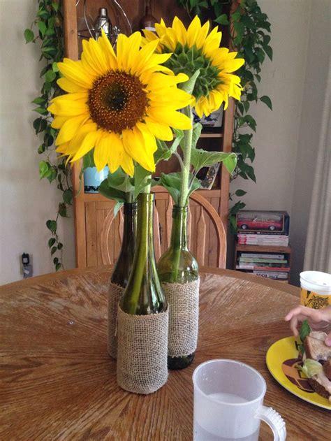 sunflower centerpieces ideas  pinterest