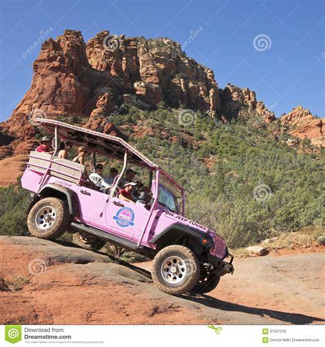 Pink Jeep Tours Sedona Broken Arrow A Pink Jeep Tour Descends Broken Arrow Trail Editorial