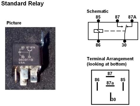 comfortable standard relay diagram images electrical