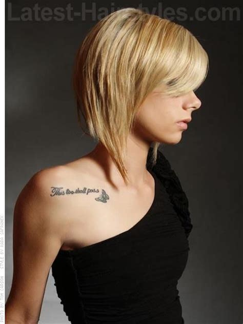 short hairstyles with long pieces swooped shorty blonde side swept bangs style long front