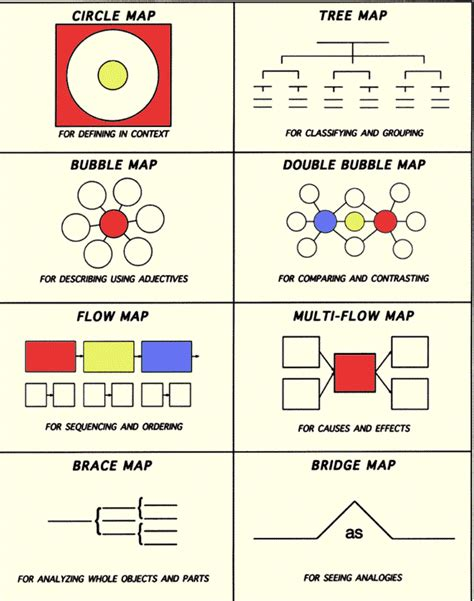 thinking maps template mrs collier