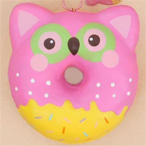 Squishy Owl Jumbo Pink puni maru pink owl donut squishy by puni maru