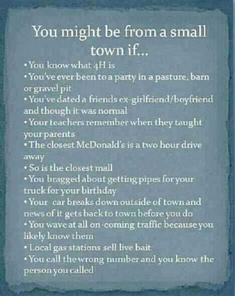 funny small funny quotes about small towns quotesgram