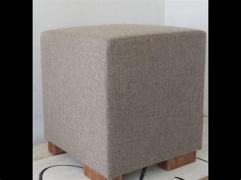 how to upholster an ottoman upholster an ottoman