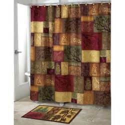 Cabin Shower Curtains Adirondack Pine Bath Set 5 Lodge Cabin Decor Shower Curtain Rug And More