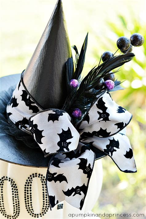 Decorating Witch Hat Ideas by Black And White Glam Pumpkin A Pumpkin And A Princess