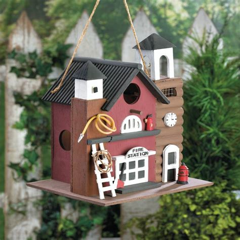 birdhouse fire station garden patio furniture outdoor
