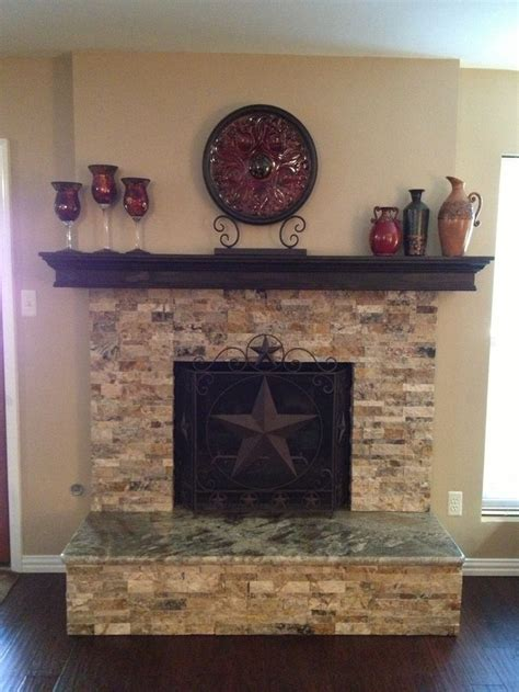stacked fireplace with granite hearth home design