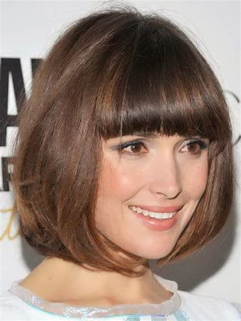 bob haircut with style top 34 best short hairstyles with bangs for round faces
