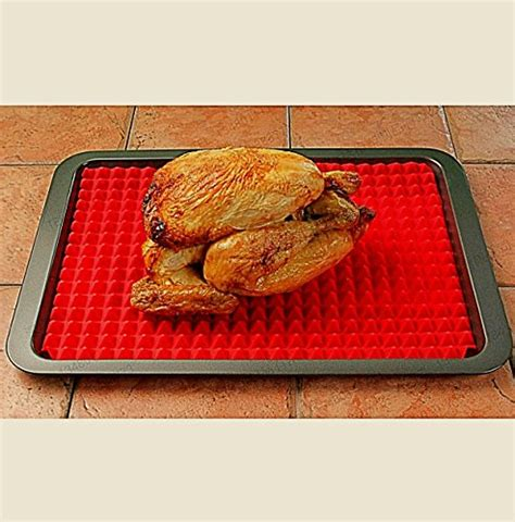 Healthy Cooking Mat by Silicone Baking Mat Pyramid Pan Surface Non Stick Heat Resistant Healthy Cooking Tray
