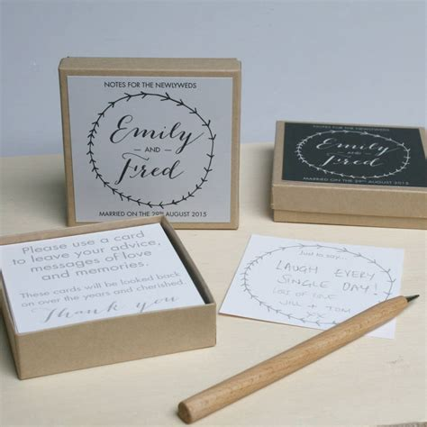 Wedding Guest Box Ideas by Personalised Wedding Guest Message Box By Modo Creative