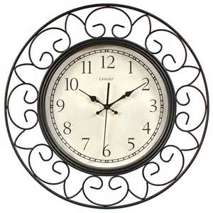 Decorative Wall Clocks 18 inch decorative wrought iron metal wall clock chaney