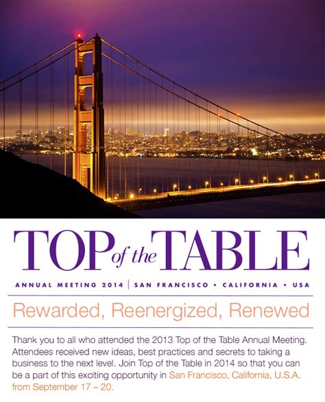 top of the table 2013 top of the table annual meeting scottsdale arizona