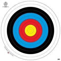 printable archery targets galleryhip com the hippest