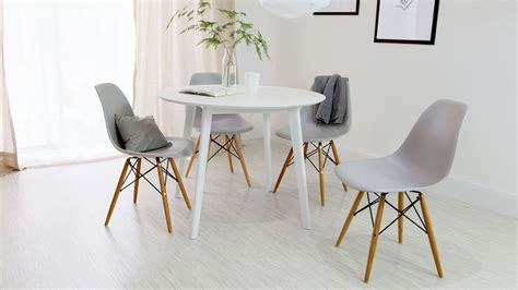 Round Dining Room Table by Round White 4 Seater Dining Table Matt Finish Uk